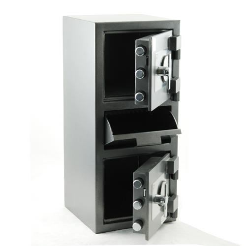 FDM-3214 Dual Compartment Depository Safe (mid-level drop door)